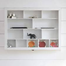 furniture wall mount white wood cabinet shelves for