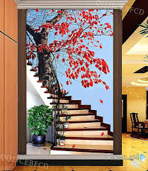 outdoor wall decals maple tree stair corridor entrance wall mural decals art print wallpaper outdoor camping outdoor wall decals
