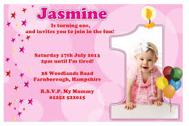 first birthday party invitation message unique baby 1st birthday invitation card template busstopopera