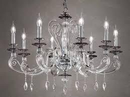 crystal chandelier with swarovski crystals aurora l8 by euroluce lampadari