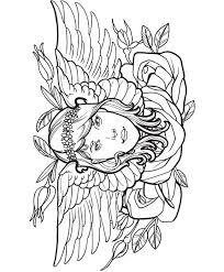 Small Picture Tattoo coloring pages girl with wings and rose ColoringStar