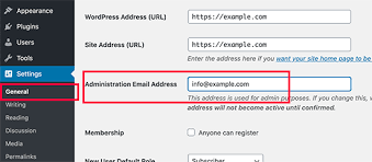 how to change the wordpress admin email