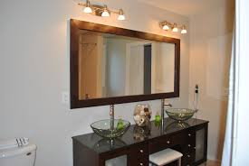 Framing A Large Mirror Framed Bathroom Mirrors Contractor Grade Bathroom Mirror Framed Up