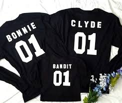 Bonnie Clyde Shirt Couples Matching Outfit Custom Numbers Honeymoon Wedding Shirts Price By Shirt