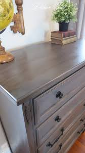 i m always inspired by restoration hardware and this dresser was no exception i was digging rh s a antiqued graphite color but wanted to take the
