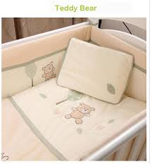 7 piece baby cot bedding set 100 cotton baby bedding sets crib bedding for baby bed