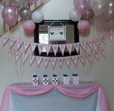 Pink And Black Minnie Mouse Decorations Notes By Sherry The Twins 2nd Birthday Party Minnie Mouse