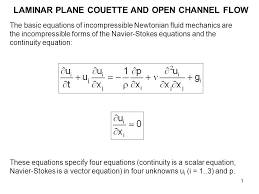 laminar plane couette and open channel flow ppt