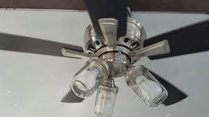 44 hampton bay vaurgas brushed nickel ceiling fan