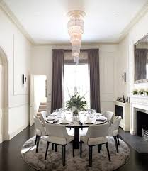 modern round dining table rug