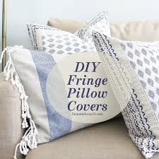 project 1room30days diy fringe pillow covers easy and