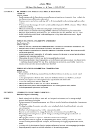 sample public relations resume public relations marketing resume samples velvet jobs