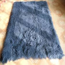 mongolian sheepskin rug gray fur blanket home decor rugs and ts for living room fur lamb mongolian sheepskin rug