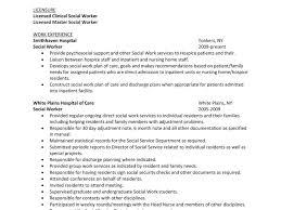Nice Idea Social Worker Resume Sample 13 Summary Hospital Work