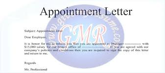 Samples Of Appointment Letter For An Employee Appointment Letter Sample In Word Format South Africa 44 Appointment