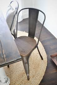new rustic metal and wood dining chairs farmhouse table for decor 7
