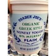 trader joe s greek yogurt non fat plain nutrition grade a