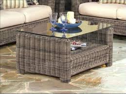 wicker coffee tables with glass tops