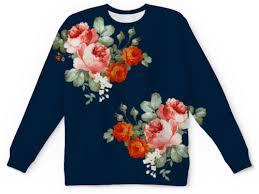 Свитшот мужской с полной запечаткой Ты цветы #2196334 от ...