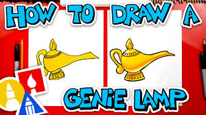 How To Draw A Genie Lamp Art For Kids Hub