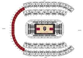 Quicken Loans Arena Seating Chart Luxury Cleveland Cavaliers