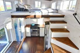tiny house loft ladder. Tiny Home Stairs Mobile House Interior Custom With Large Kitchen And Two . Loft Ladder O