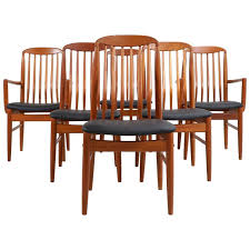 six danish modern teak dining chairs by benny linden at with decorations 2