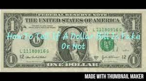 dollar bill in real or fake