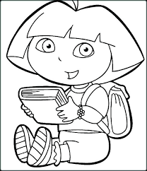Dora The Explorer Coloring Pages Printable
