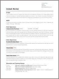 Free Example Resume Free Resume Layout On Resume Templates Free