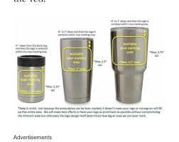 Tumbler Decal Size Chart Tumbler Decal Sizes Yeti Decals Silhouette Vinyl
