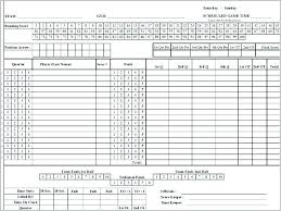 Basketball Score Sheets Simple Basketball Stats Sheet High School Scorebook Template