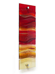 fused glass wall artwork panel view 1