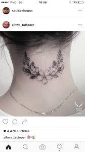 татумехенди Tatoo тату на затылке серое тату и татуировки