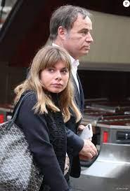Fabien Lecoeuvre et sa fille la journaliste Sarah Lecoeuvre - Sortie des  obsèques de Pierre Bellemare à l'église Saint-Roch de Paris, France, le 31  mai 2018. - Purepeople