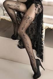 Patterned Pantyhose Cool Luxury Patterned Tights Ballerina Design 48