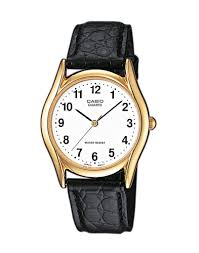how to a watch to fit a small wrist the idle man casio mtp 1154pq 7bef gold watch on black leather strap mens