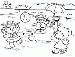 Adult ~ Kids And Spring Rain Coloring Page For Kids Seasons Pages ...