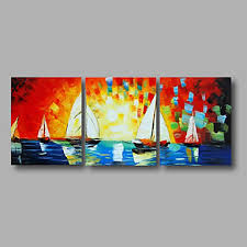 seascape sunrise boats canvas art wall decor landscape oil painting wall art with stretched on boat canvas wall art with seascape sunrise boats canvas art wall decor landscape oil painting