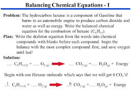 balancing chemical equations i