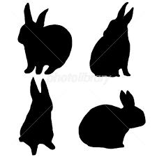 ウサギシルエット素材 イラスト素材 2173347 フォトライブラリー