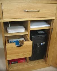 mobel oak hidden twin. Mobel Oak Large Hidden Office Twin Pedestal Desk_image3