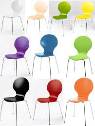 stackable dining office chairs many colours chrome legs marcus wood new