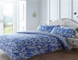 toile duvet cover set blue single zoom