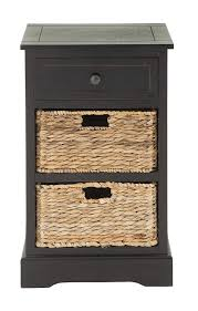 deco wood wicker basket side table end with drawers kitchen dining bookcase round plastic patio small