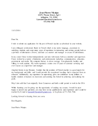 French Cover Letter Example Printable Resume Templates