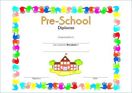 Preschool Diploma Template Diploma Certificate Template Word Caseyroberts Co