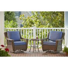 hampton bay spring haven brown 3 piece all weather outdoor patio set with