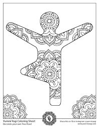 Printable kids yoga coloring pages. Free Printable Yoga Coloring Page Yummi Yogi