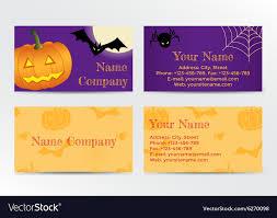 Halloween Business Cards Set Of Halloween Business Cards